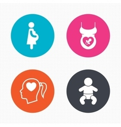 Maternity icons baby infant pregnancy dummy vector