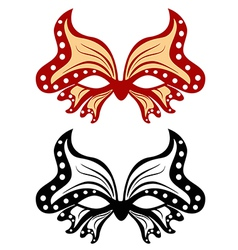Image masquerade mask in the shape of a butterfly vector