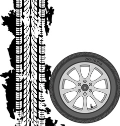 Abstract background tire prints vector