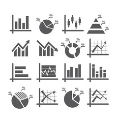 Diagram and graphs icons vector