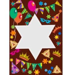 Purim background with davis star vector