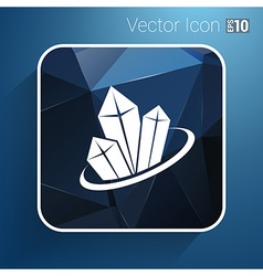 Crystal icon isolated cold new elements vector