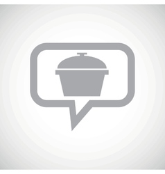 Pan grey message icon vector