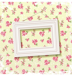Frame on floral background vector