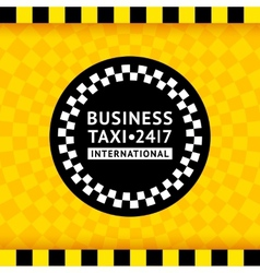 Taxi symbol with checkered background - 19 vector
