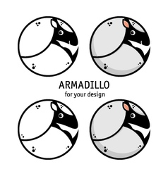 Armadillo icon vector