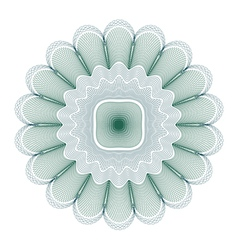 Green guilloche rosette vector
