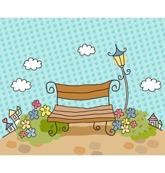 Cartoon park bench vector