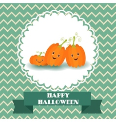 Funny pumpkin to the holiday of halloween vector