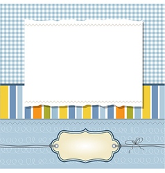 Cool template frame design for greeting card vector