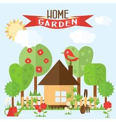 Garden in flat style vector