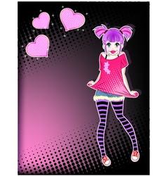 Teen girl vector