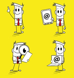 Square guy-e mail vector