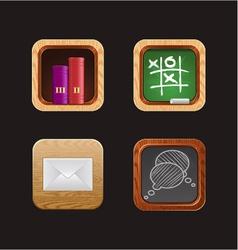 Wood web icon app vector
