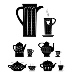 Kettle and cup of tea vector