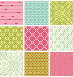 Seamless colorful backgrounds collection - vintage vector