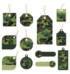 Camouflage tags vector