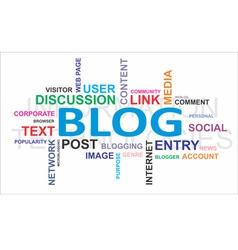 Word cloud blog vector