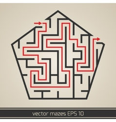 Maze labyrinth with solution vector