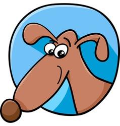 Cute dog sign cartoon vector