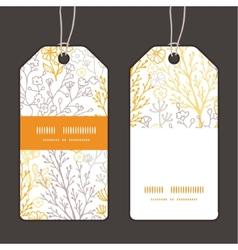 Magical floral vertical stripe frame vector