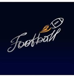 Logo template football club rugby the ball vector