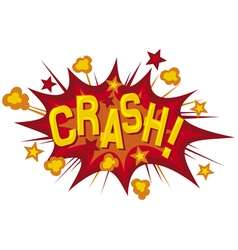 Cartoon - crash vector