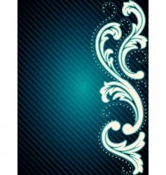 Vertical vintage rococo background vector