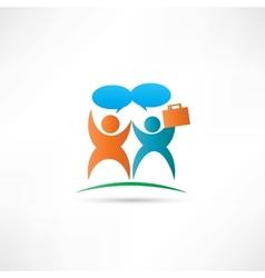 Communication partnership icon vector
