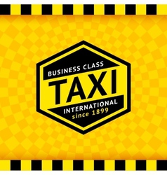 Taxi symbol with checkered background - 20 vector