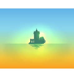 Evening nautical landscape vector