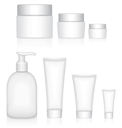 Packaging containers beauty products vector