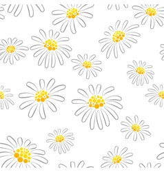 Daisy seamless pattern vector