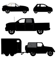 Transportation icons collection cars vector
