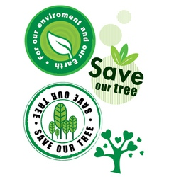 Environmental badges vector