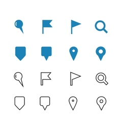 Gps and navigation icons on white background vector