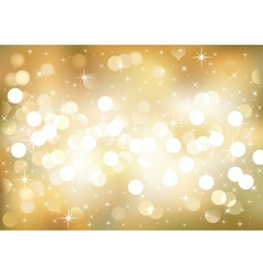 Golden festive lights background vector