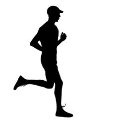 Running black silhouettes vector