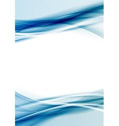 Transparent blue color border folder design vector