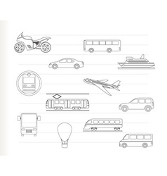 Travel and transportation vector