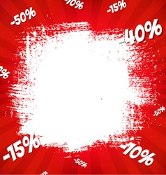 Red sale poster vector