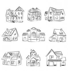 Set of houses v vector