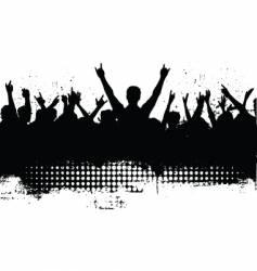 Grunge audience vector