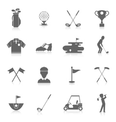 Golf icons set vector