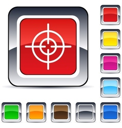 Sight square button vector