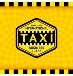Taxi symbol with checkered background - 22 vector