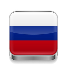 Metal icon of russian federation vector