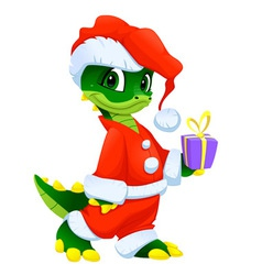 Funny christmas cartoon character vector
