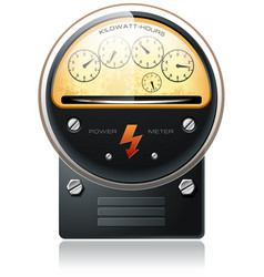 Electricity hydro power counter vector