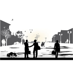 People gray silhouettes vector